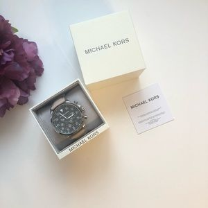 COPY - Micheal Kors Gage Chronograph Leather Stra…